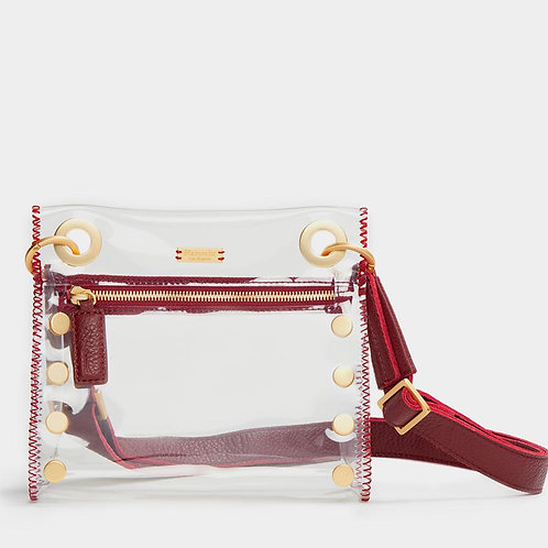 Tony Small Clear-Crimson-Brushed Gold