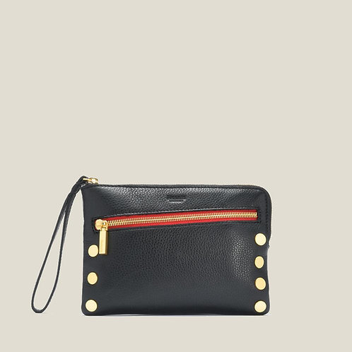 Nash Small 2 Black Brushed-Gold/Red-Zip