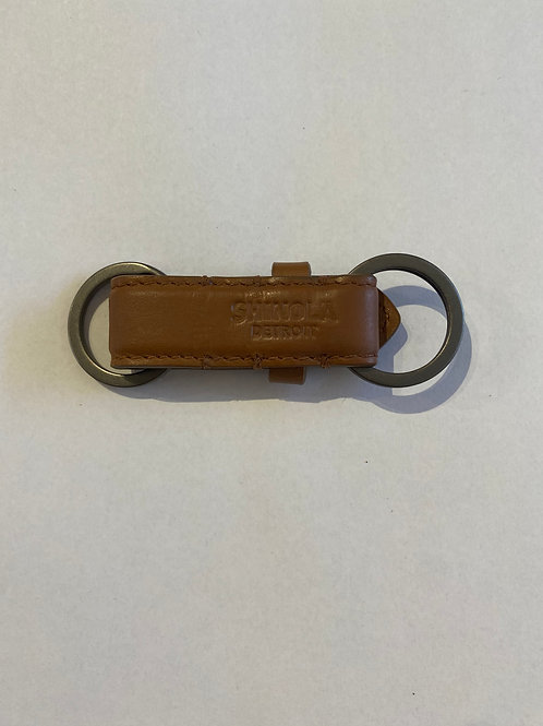 Valet Leather Key Fob Signature Cognac