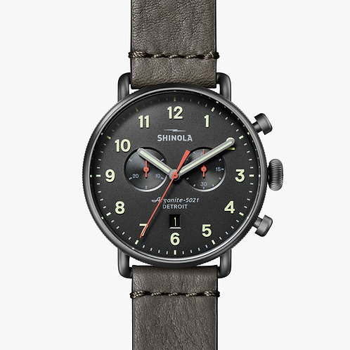 The Canfield Chronograph 43mm Gunmetal