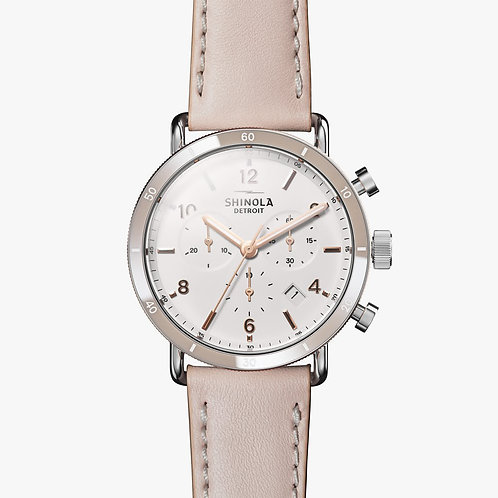 The Canfield Sport Chronograph 40mm White