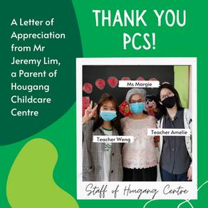 Thank You PCS! A Parent's Letter of Appreciation