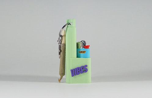 """Terrapin """"VIBES"""" Mini Lighter + Joint/Spliff* Case & Keychain"""