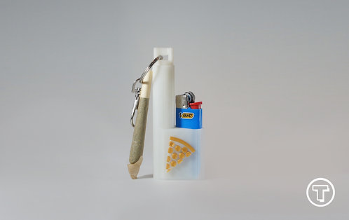 Terrapin Glow-in-the-Dark Gold Pizza, Mini Lighter + Joint* Case & Keychain