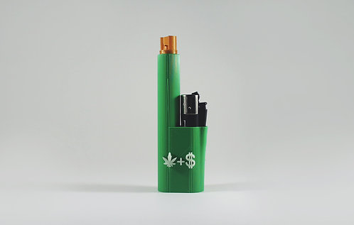 "Terrapin Lighter and Blunt* Travel Case ""Weed and $"", Forest Green *Customizable"