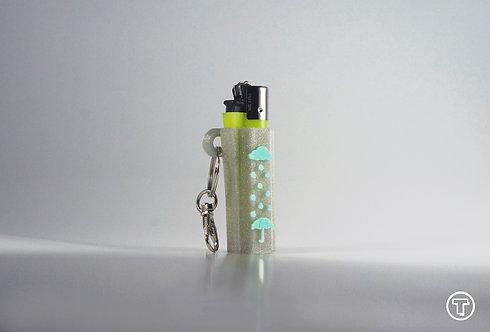 """Terrapin """"Rainy Day"""" Lighter Case Keychain, Glitter *Customizable"""