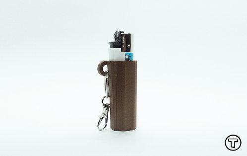 Terrapin Lighter Case + Keychain, Coco Brown Plain *Customizable
