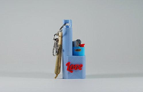 "Terrapin Pearl Blue ""Love"" Mini Lighter + Joint* Case & Keychain"