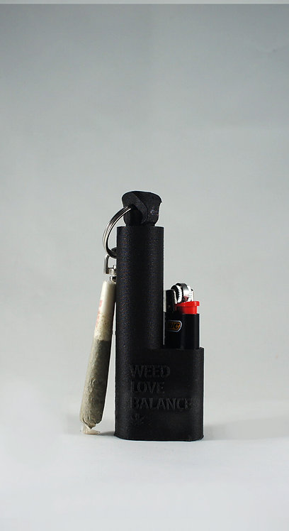 Terrapin Jedi Black Mini Lighter + Joint Holder Keychain