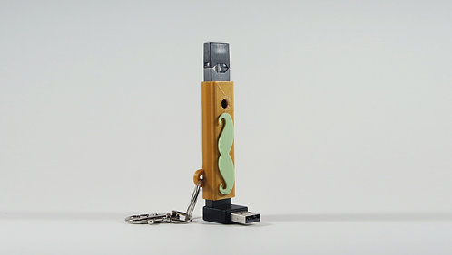 "Terrapin ""Mustache"" Slip-Sleeve Case + Keychain for JUUL* - Customizable"
