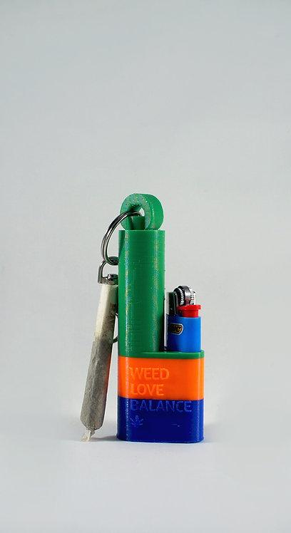 Terrapin Boho Island Mini Lighter + Joint* Holder Keychain