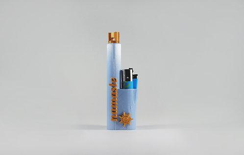 "Terrapin Lighter and *Smoke Travel Case ""Namaste"" Pearl Blue"