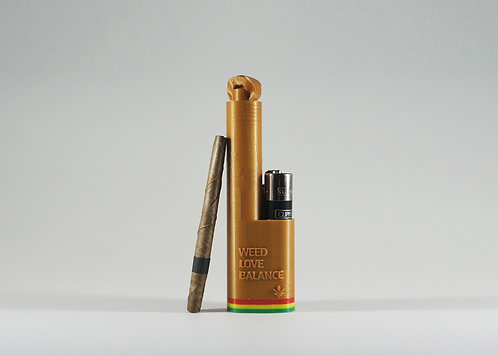 "Terrapin Gold ""WLB"" Reggae Lighter + Blunt* Holder"