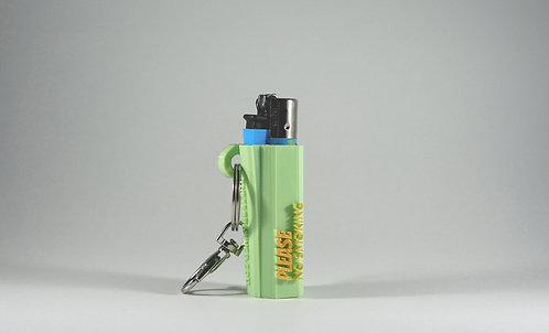 "Terrapin Lighter Case & Keychain, ""Please No Smoking"" Turquoise *Customizable"