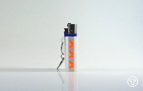 "Terrapin ""Orange Butterfly"" Lighter Case + Keychain *Customizable"