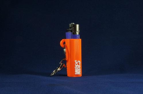 "Terrapin Lighter Case & Keychain, ""VIBES"" Orange *Customizable"