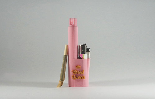"Terrapin ""Weed Queen"" Pink & Gold Lighter and Smoke* Travel Case"