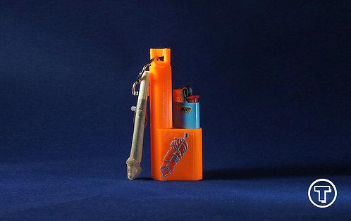"Terrapin ""Feather"" Mini Lighter + Smoke* Case & Keychain"