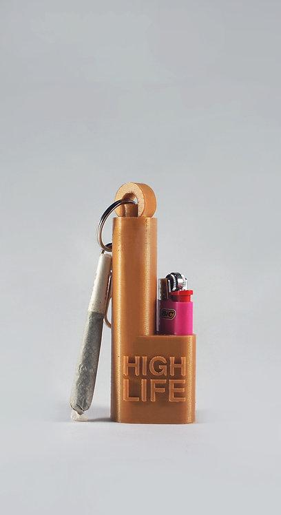 Terrapin Gold Rush' Mini Lighter + Joint* Holder Keychain