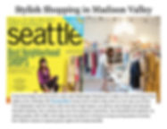 Canopy Blue women's clothing boutique featured in Seattle Magazines best neighborhood shops