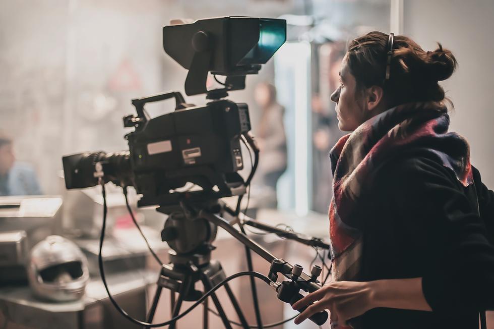 female camera operator
