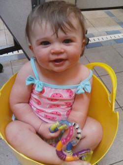 Baby in a bucket!