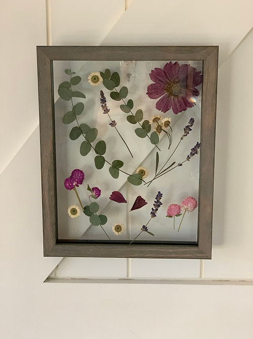Dried Flowers in Floating Frame