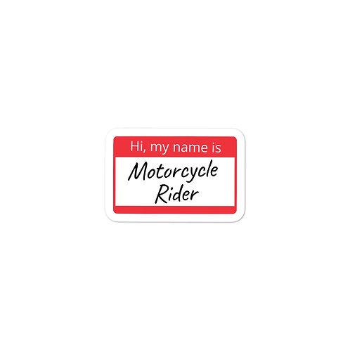 """""""Motorcycle Rider"""" Sticker"""