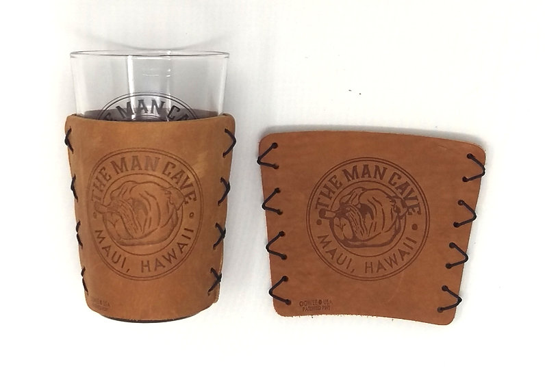 The Man Cave Leather Pint Sleeve