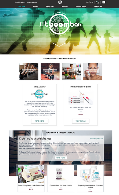 FitBoomBah Home Page