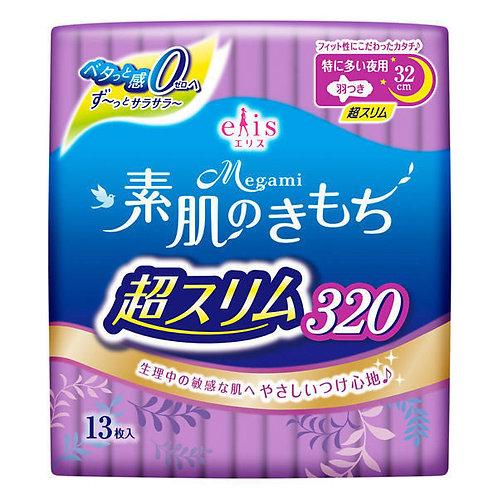 MEGAMI Slim Night 32cm 11pc Sanitary Napkin Wing
