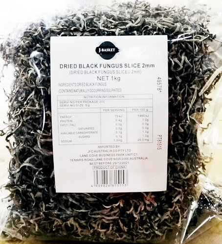 JB Dried Sliced Kikurage Fungus 2mm 1kg