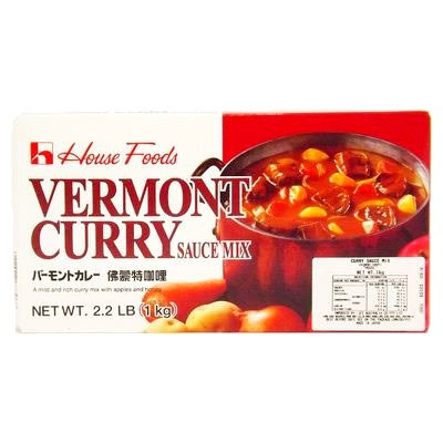 House Vermont Curry Beef Free Curry Roux Mild 1Kg