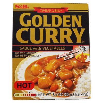 SB Retort Curry Hot 230g Prepared Golden Curry