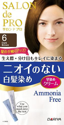 SALON de PRO Unscented Grey Hair Dye Cream 6 Dark Brown