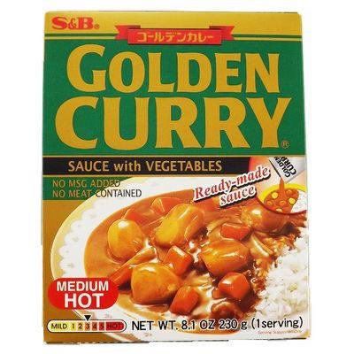 SB Retort Curry Medium Hot 230g Prepared Golden Curry