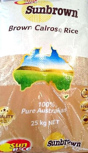 SUN RICE Brown Rice Med Grain 25kg