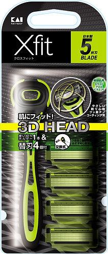 KAI Xfit 3D Men's Razor Slim