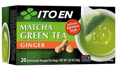 ITOEN Matcha Green Tea Ginger Tea Bag 20pc