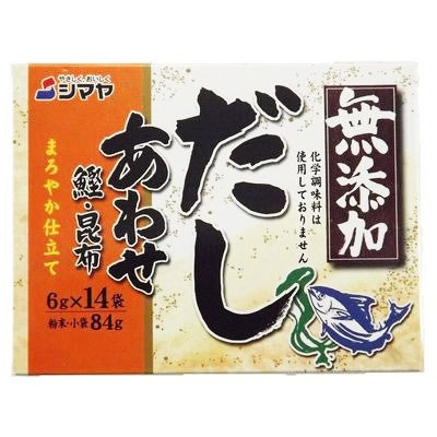SHIMAYA Mutenka Awase Dashi 84g Bonito and Konbu Stock Powder