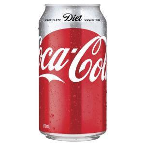 CCA Coca Cola Diet 375ml 24cans