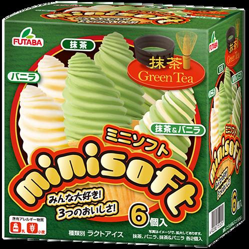 FUTABA Matcha Vanilla Soft Ice Cream 6pc 450ml