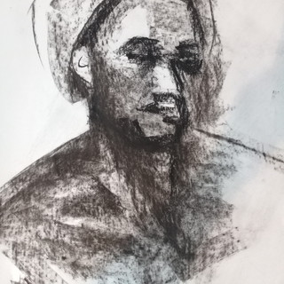 charcoal from life