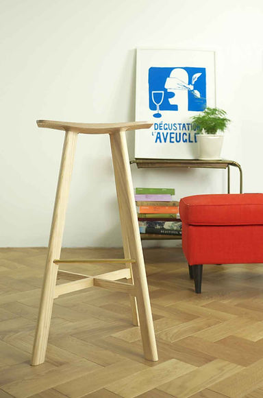 furniture, designer, sustainable, English, designer, adaptable, custom size, made to measure, stool, kitchen, house, decoration, contemporary, bar stool