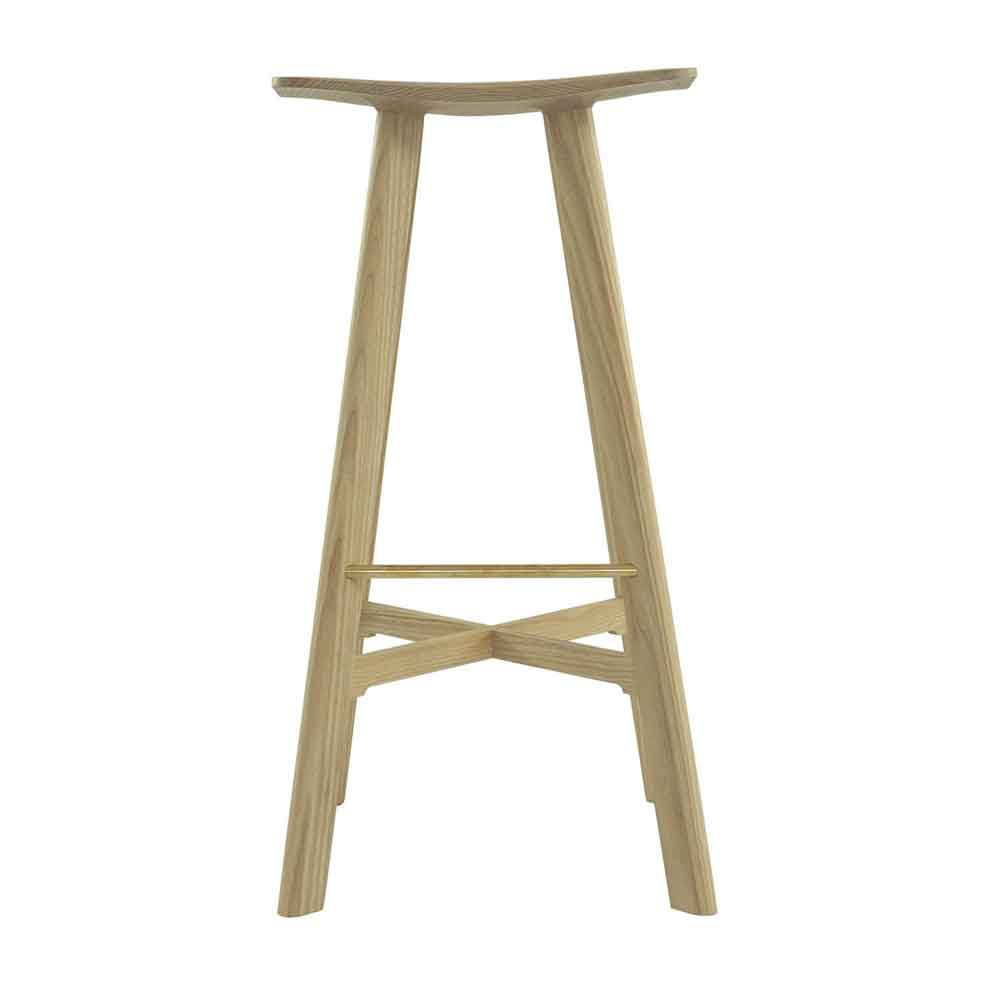 le2 winged bar stool in ash / ash
