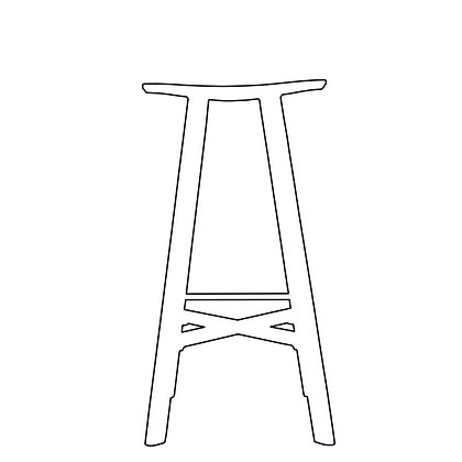 LE2 winged bar stool