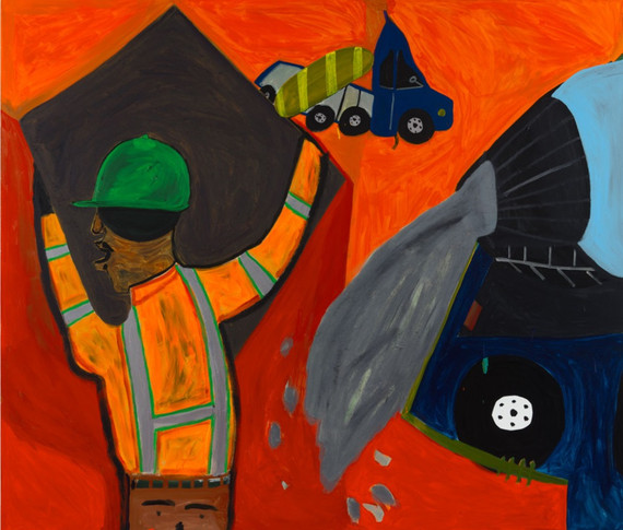 Construction Acrylic on Canvas 60 x 72""