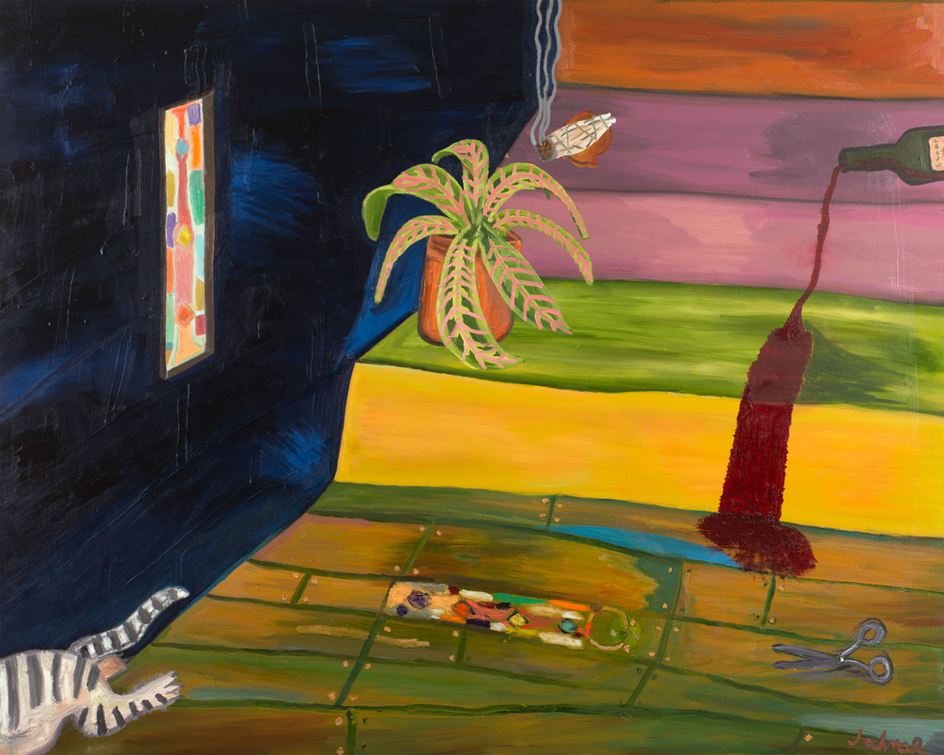 Spill Oil on canvas 60 x 48 inches