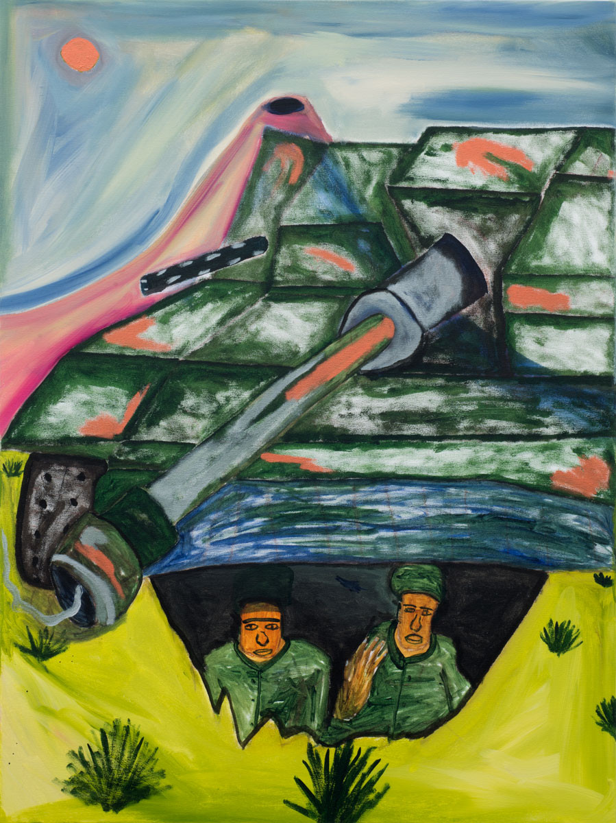Wilburn Acrylic on canvas 30 x 36 inches