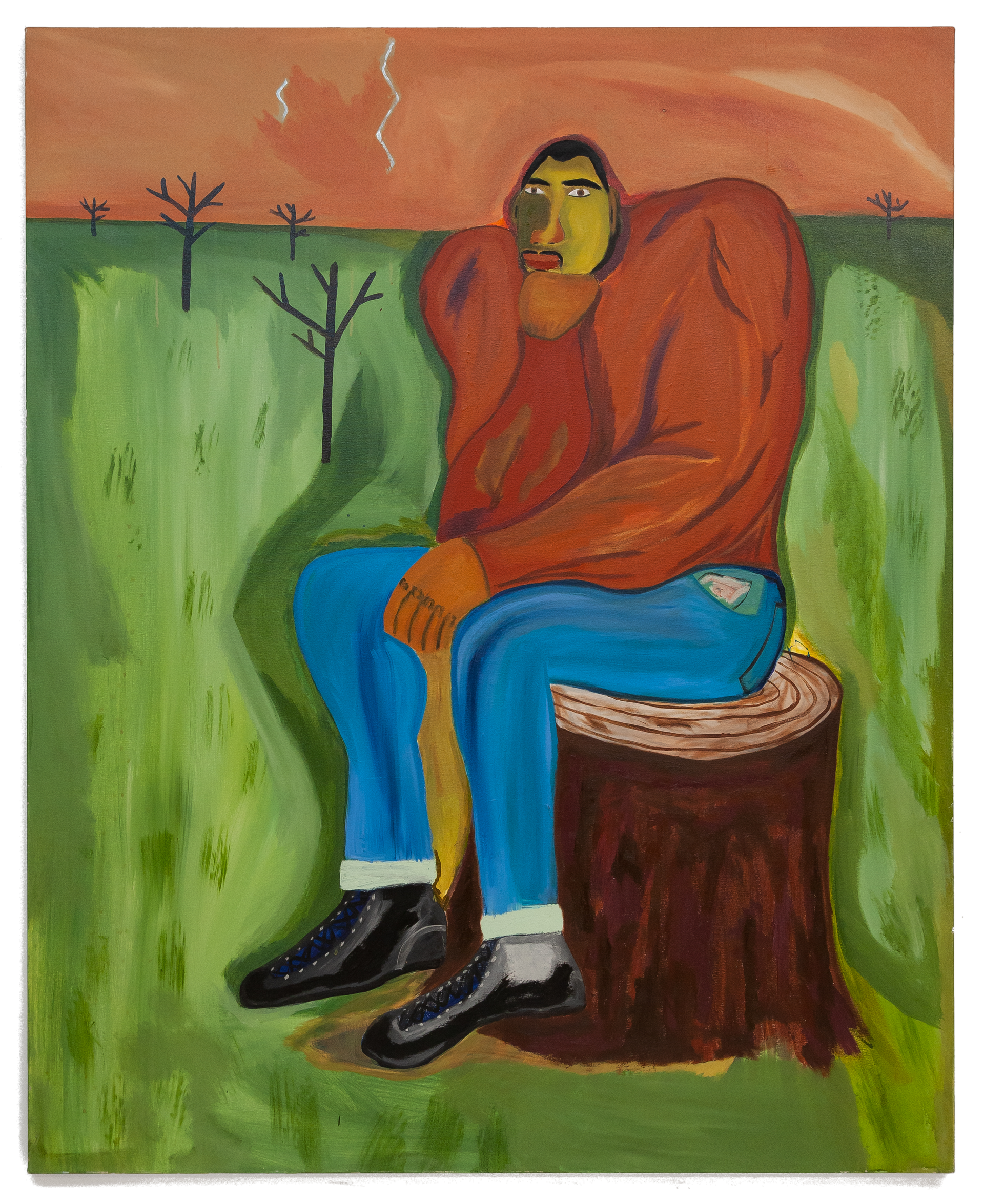 The Ponderer Oil and acrylic on canvas 48 x 60 Inches